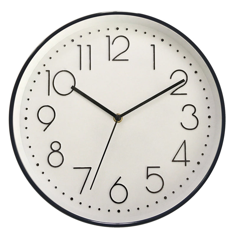Wall Clock - Black & White - 12'' - Magasins Hart | Hart Stores