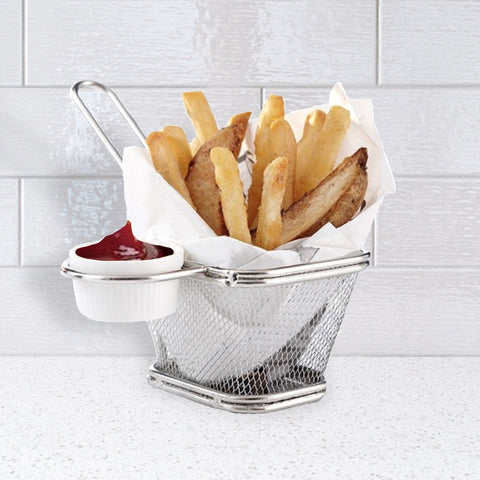 À la Cuisine - French Fry Basket with Sauce Dish