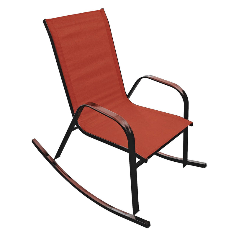 Steel Textilene Rocking Chair - Red - Magasins Hart | Hart Stores