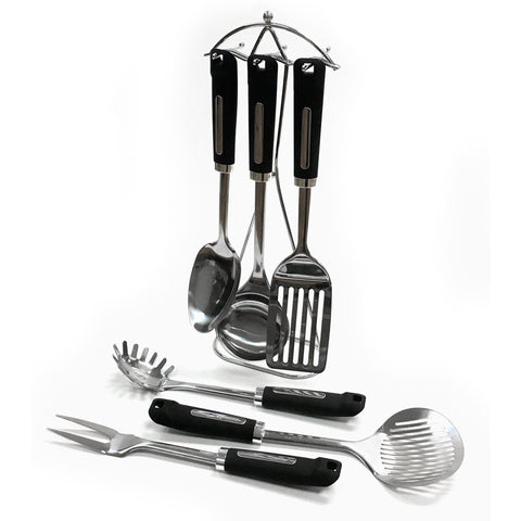 7 Piece Stainless Steel Kitchen Utensils with Stand