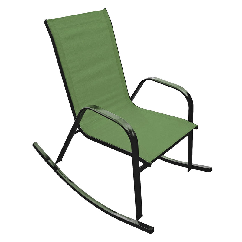 Steel Textilene Rocking Chair - Green - Magasins Hart | Hart Stores