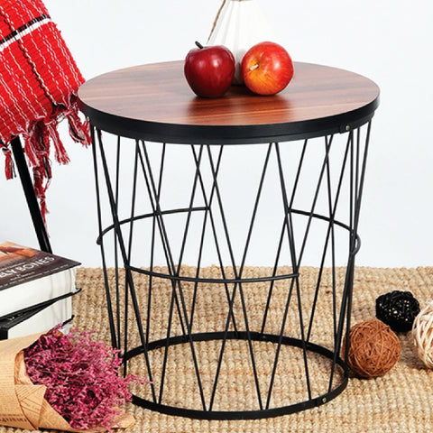 Contemporary Style Round Side Table