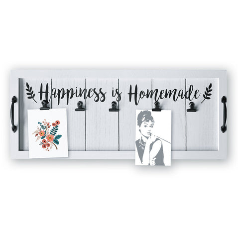 "Wall Decor Photo & Art Clips ""Happiness is Homemade"""