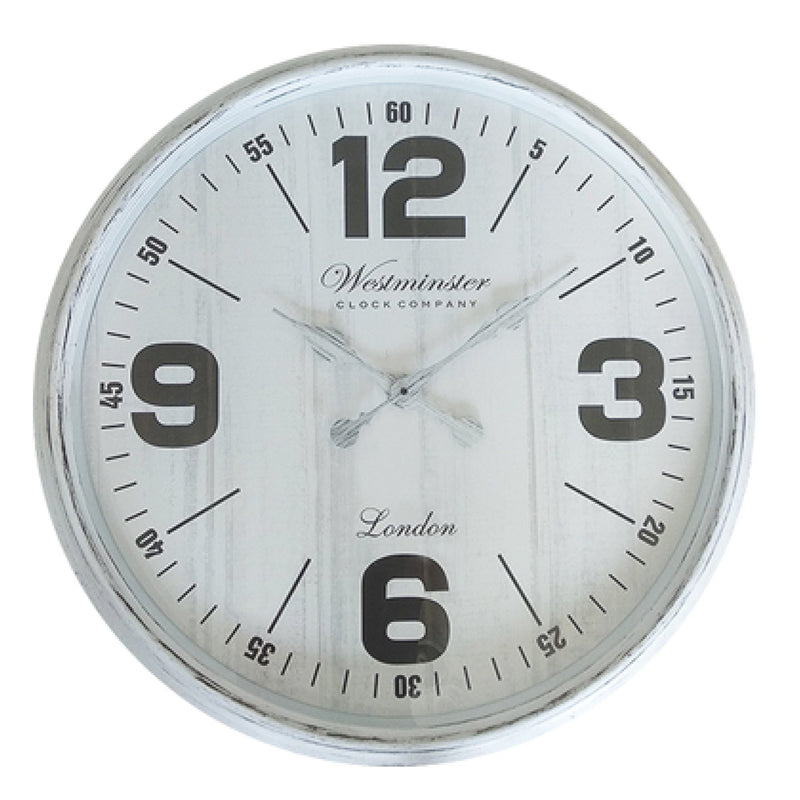 30 Inch White Clock - Magasins Hart | Hart Stores