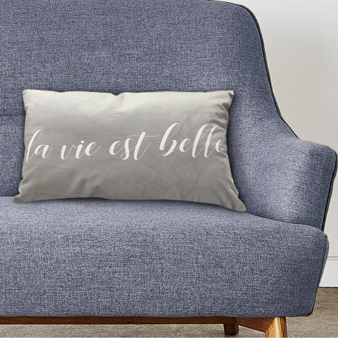 "LAUREN TAYLOR - ""La Vie est Belle"" Velvet Pillows"
