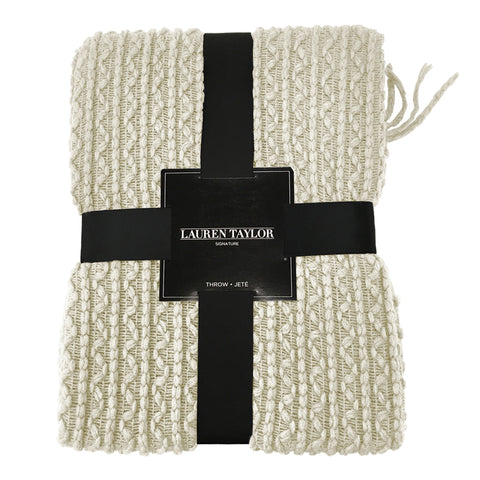 Lauren Taylor - Simon Lightweight Cable Knit Throw