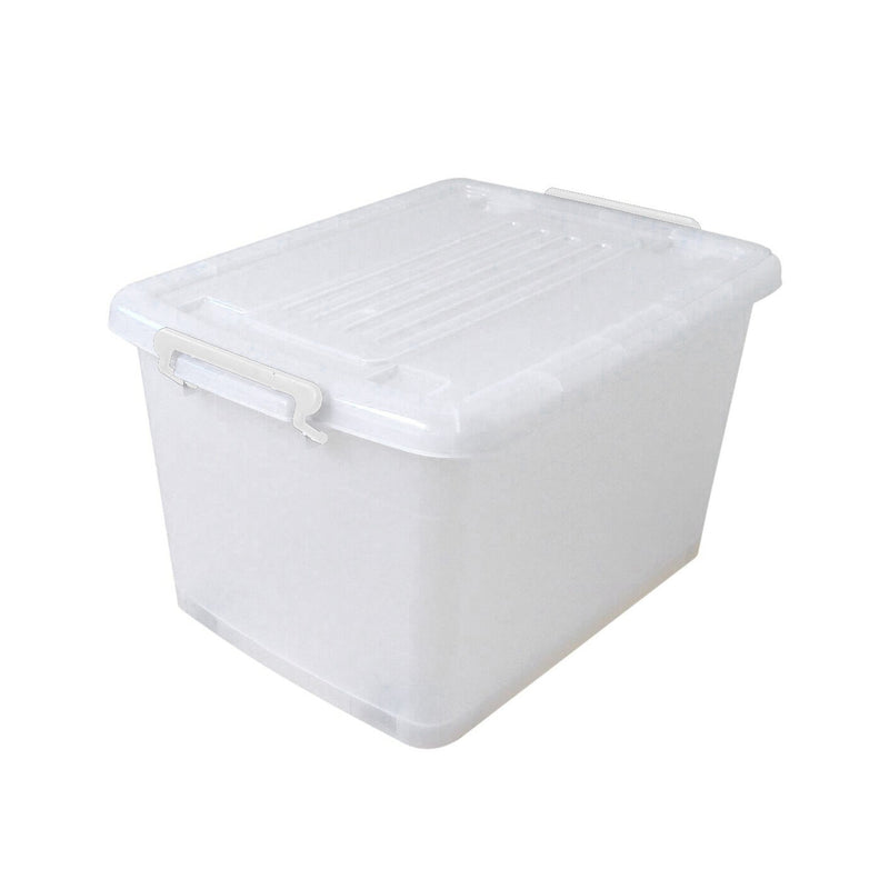 Clear Storage Tote with Lid and Castors - 15L - Magasins Hart | Hart Stores