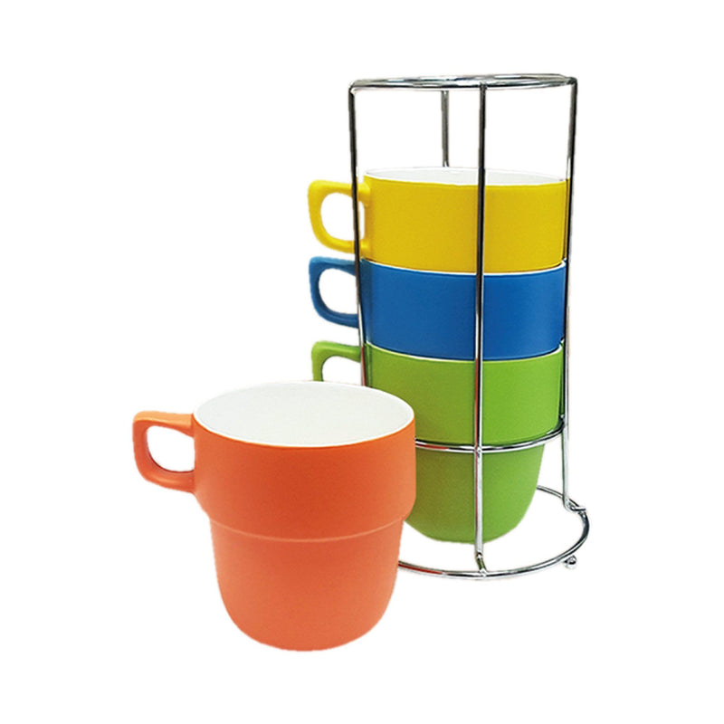 Lauren Taylor - Stackable Mugs with Storage Rack - Magasins Hart | Hart Stores