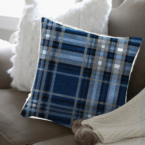Adrien Lewis - Christophe Plaid Fleece Reverse to Sherpa Cushion