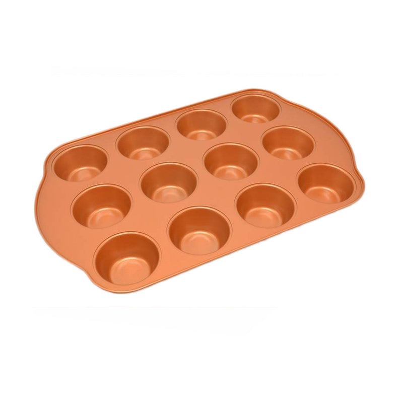 Copper Coated Anti-stick Muffin Pan - Magasins Hart | Hart Stores