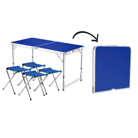 Sol Del Mare - Folding Camping Table with 4 Stools