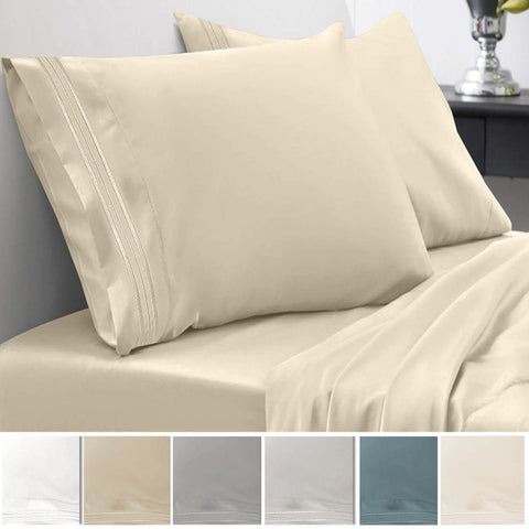 Embroidered Microfiber Sheet Sets