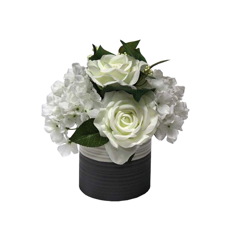Fabric Flower in Ceramic Pot - Magasins Hart | Hart Stores