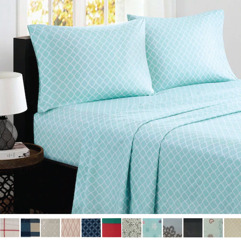 Luxury 6 Piece Bamboo Comfort Printed Sheet Set - Magasins Hart | Hart Stores