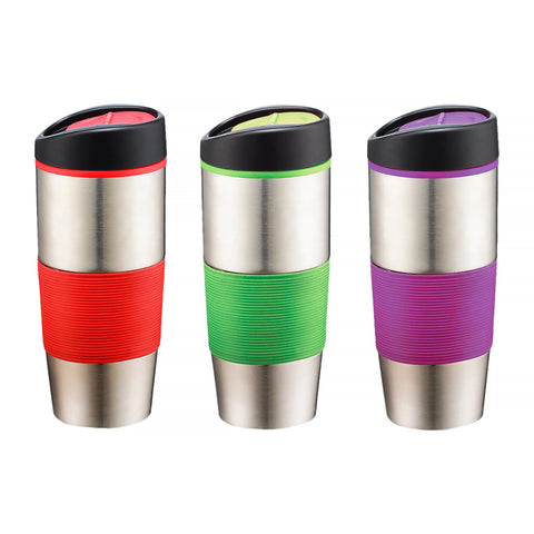 Travel Mug with Assorted Colour Grips