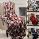 Lauren Taylor - Griffin - Plaid and Sherpa Throw - Magasins Hart | Hart Stores