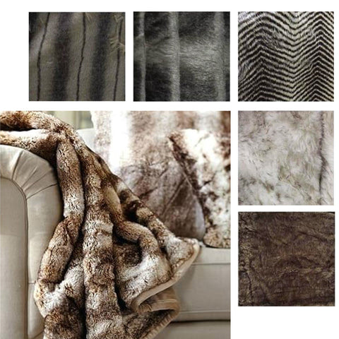 LAUREN TAYLOR - THOR - Assorted Faux Fur Throws