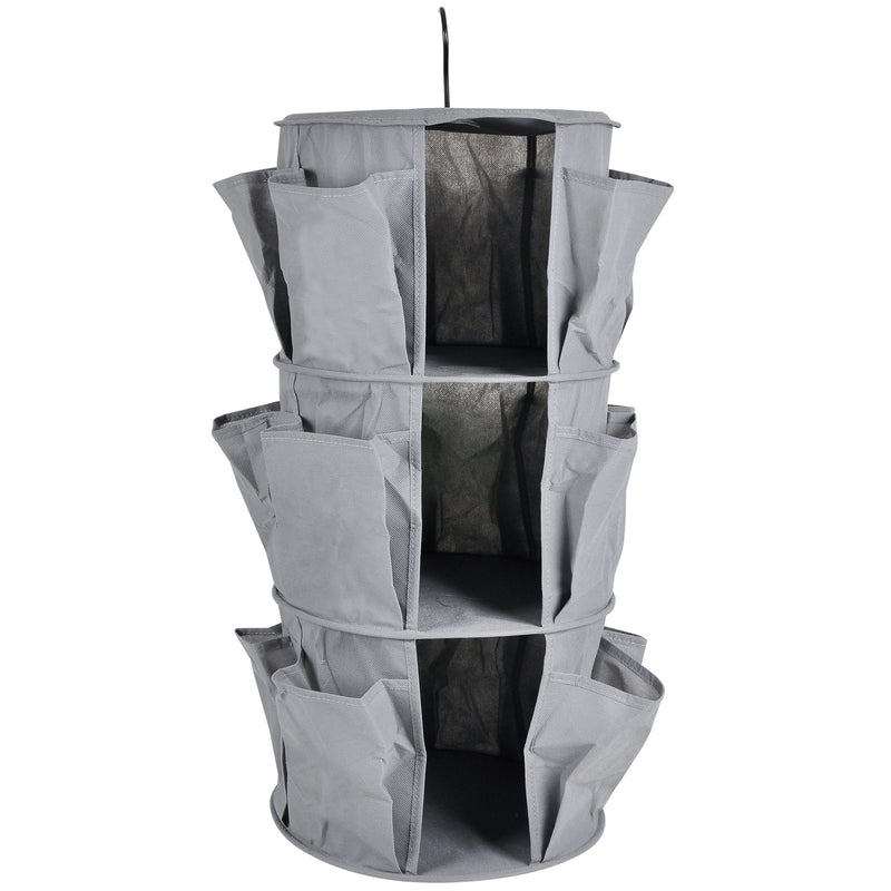 Closet Organizer 3 Layer - Grey With Pockets - Magasins Hart | Hart Stores