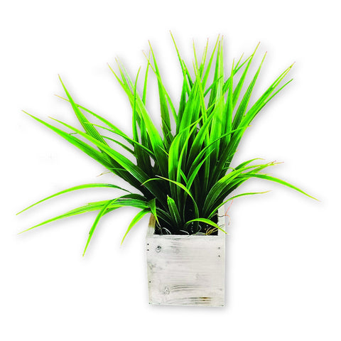 Artificial Plant in Square Wood Planter