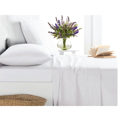 Lavender Scented White Sheet Set