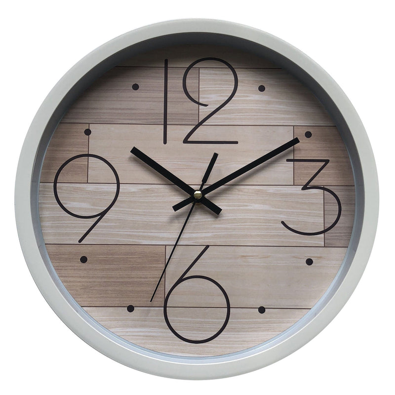 Wall clock - Natural Wood Look & White - 12'' - Magasins Hart | Hart Stores