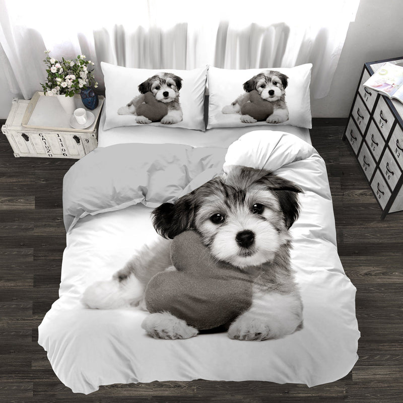 Puppy Novelty Printed 3 Piece Comforter Set - Magasins Hart | Hart Stores