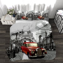 Red Car In Paris Novelty Printed 3 Piece Comforter Set - Magasins Hart | Hart Stores