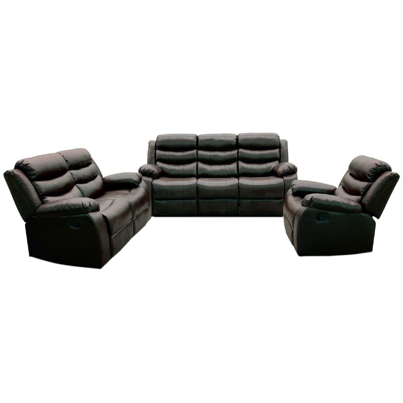 3-Piece Air Leather Upholstered Recliner Sofa Set - Magasins Hart | Hart Stores