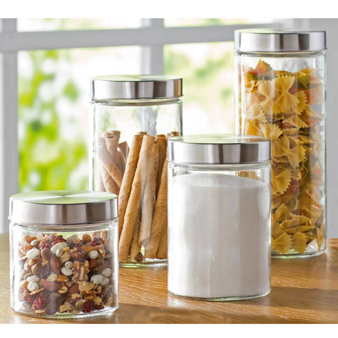 Glass Canisters with Lids