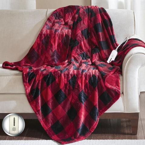 Buffalo Flannel Plaid Electric Heated Throw