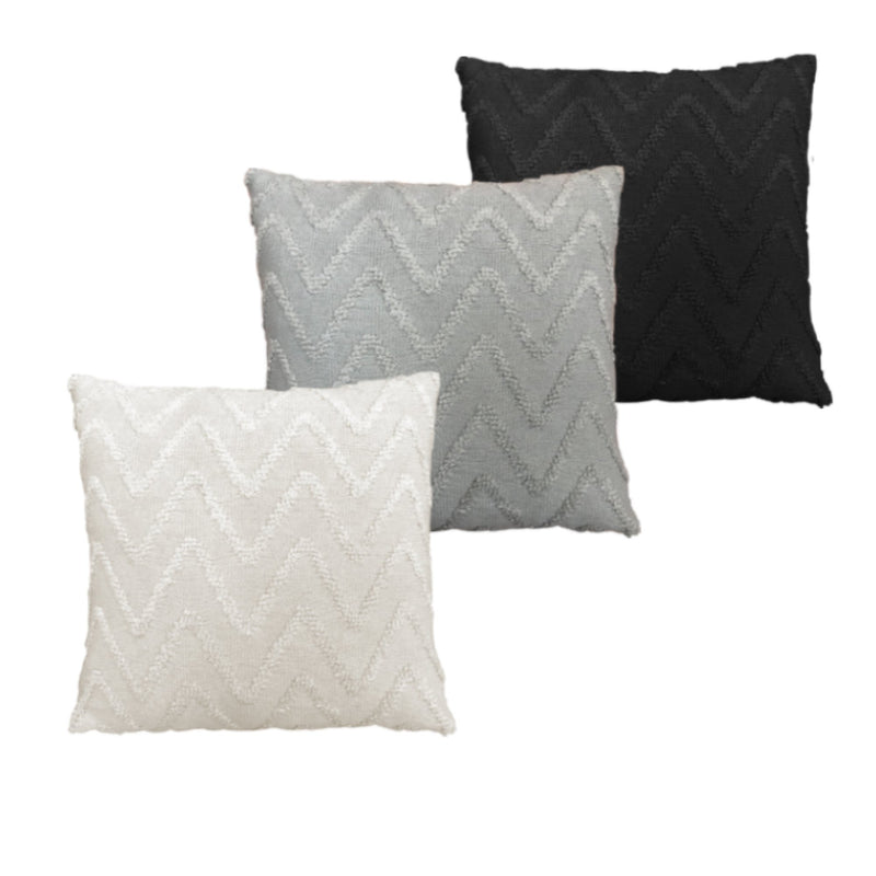 "Knit Jacquard Looped Chevron Design Decorative Cushion 18x18"" - Magasins Hart 