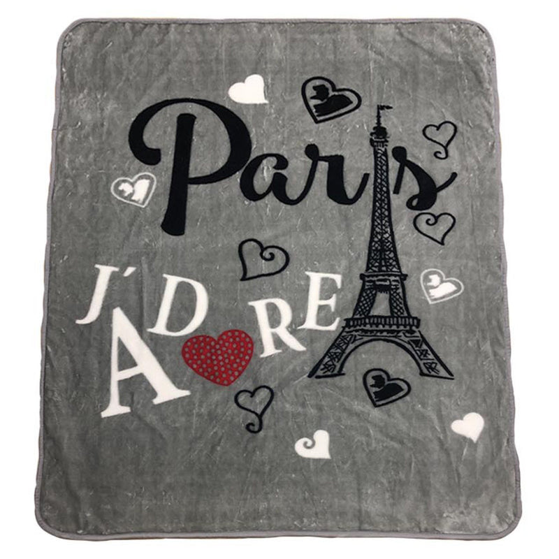 Paris Jàdore Grey Plush Mink Throw 50x60 - Magasins Hart | Hart Stores