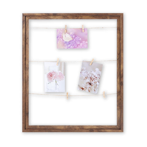 Wood Look Photo Clip Frame - Light Brown