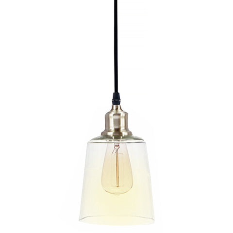 Assorted Glass and Metal Pendant Lights