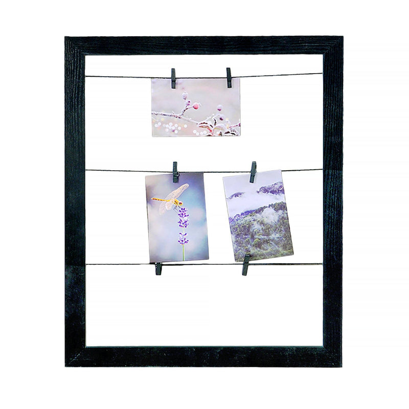 Wood Look Photo Clip Frame - Black - Magasins Hart | Hart Stores