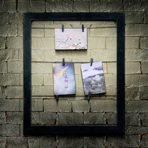Wood Look Photo Clip Frame - Black