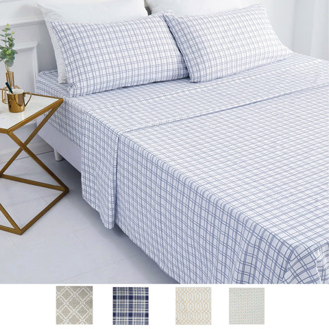 LAUREN TAYLOR - Soft Touch Microfiber Printed Sheet Sets