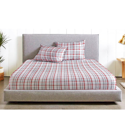 BELLEVUE Plaid Flannel Sheet Set