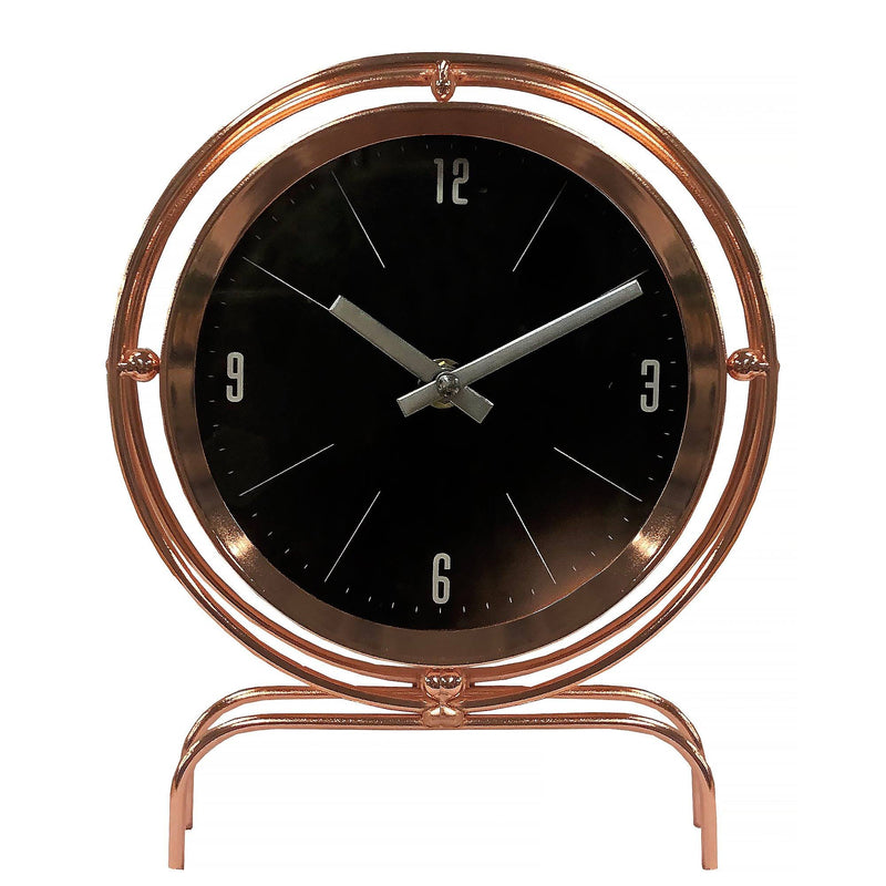 Copper Finish Table Top Clock - Magasins Hart | Hart Stores