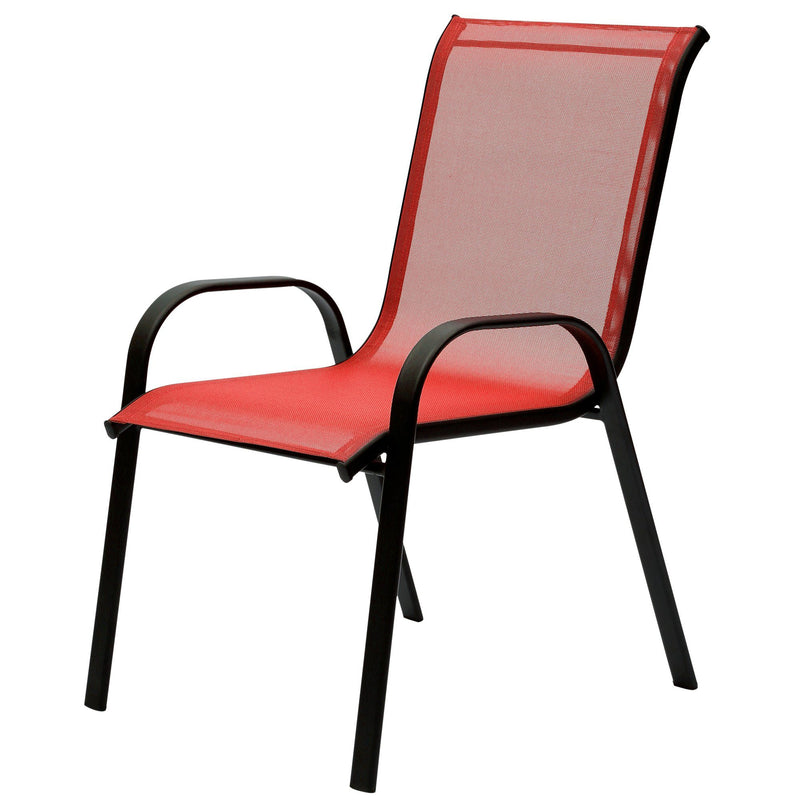 Outdoor Stackable Textilene Chair - Red - Magasins Hart | Hart Stores