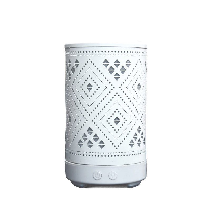 Aroma - White Diffuser with LED Light | Diamond - Magasins Hart | Hart Stores