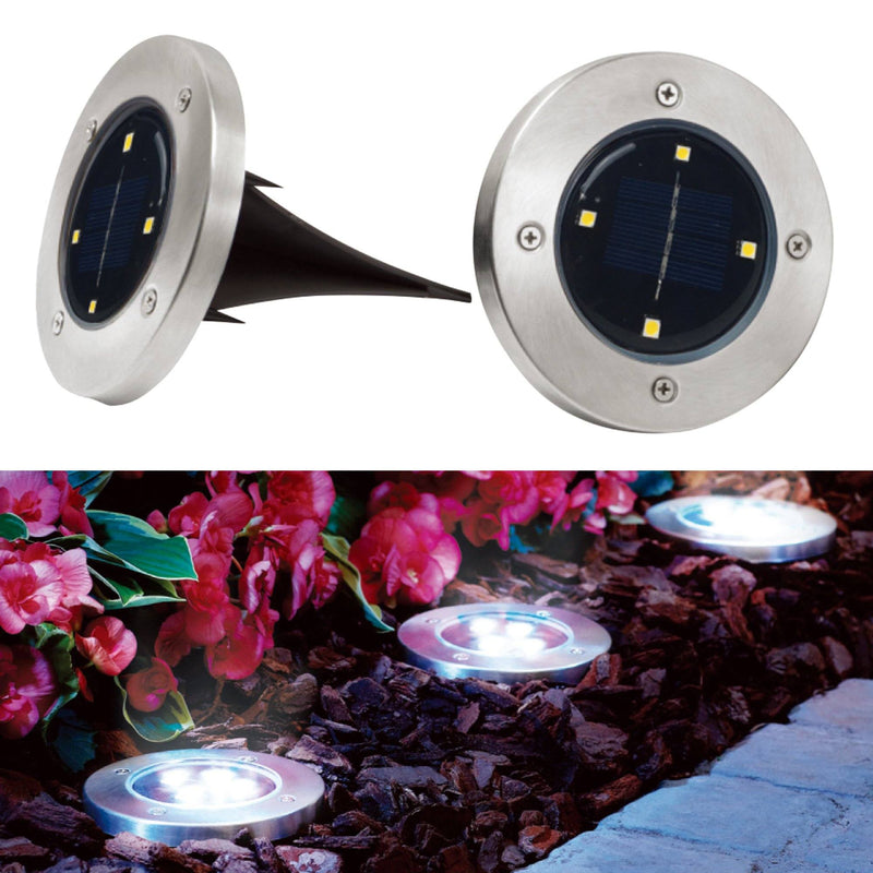 2 Pack Solar Powered Ground Deck Light - Magasins Hart | Hart Stores