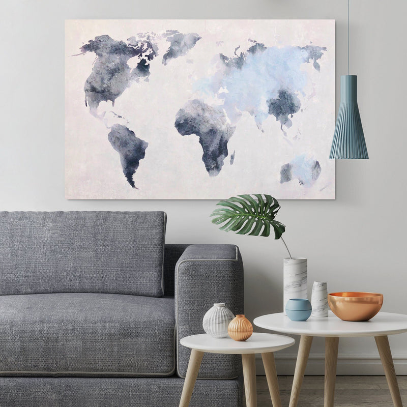 Canvas - Blue World Map