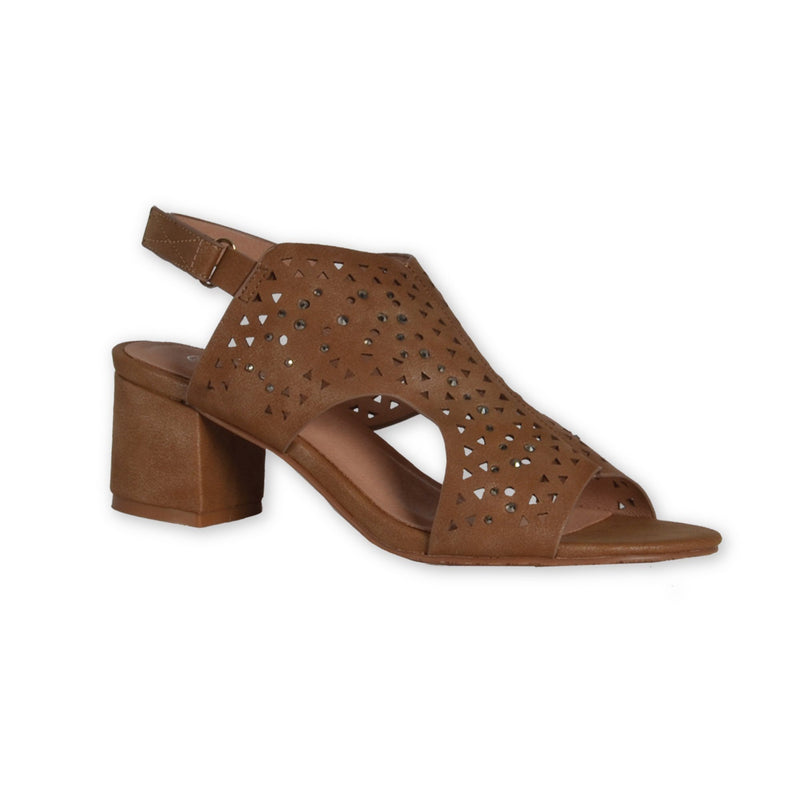 Block Heel Sandals - Brown - Magasins Hart | Hart Stores