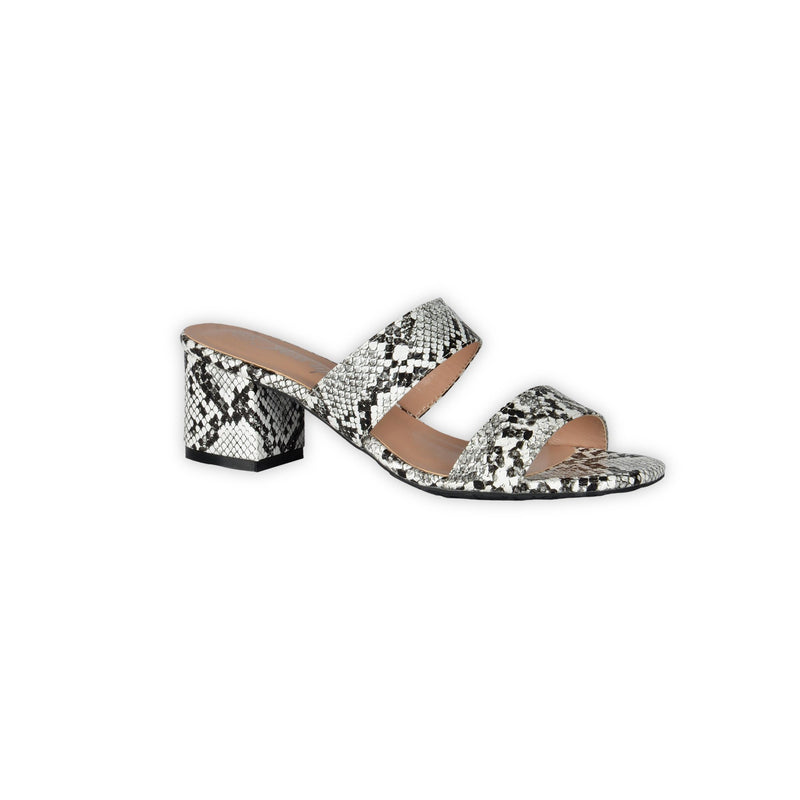 Snake Print Sandals - White - Magasins Hart | Hart Stores