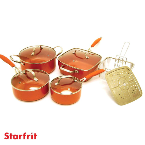 Ensemble de batterie de cuisine 10mcx Starfrit Eco cuivre | Starfrit Eco Copper 10pc Cookware Set