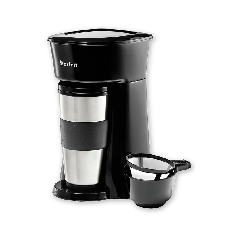 Starfrit: Single Serve Coffeemaker with Travel Mug - Magasins Hart | Hart Stores