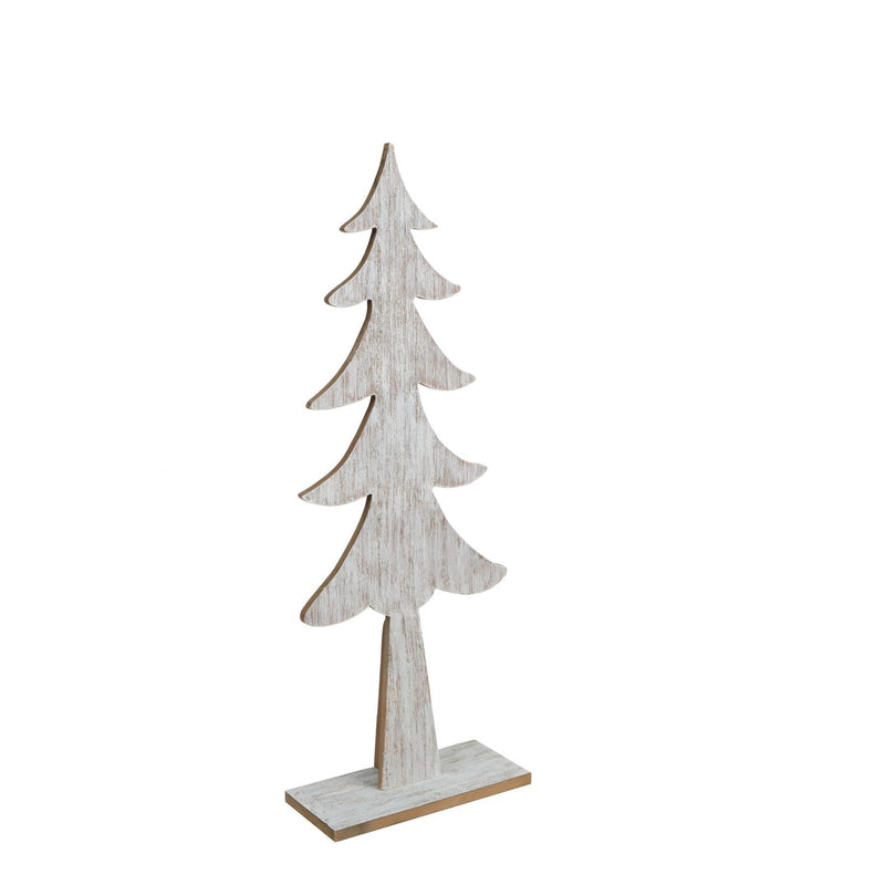 "23.75"" Wood Tree On Base, White Wash - Magasins Hart 