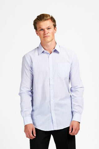 Mens Sport Shirt L/S Poly Cotton/Asst/Asst