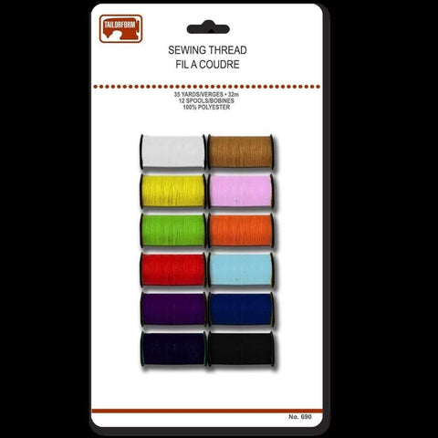 12 Colours Polyester Thread
